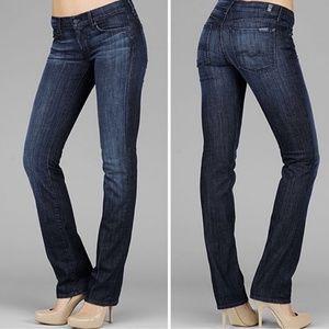 7FAM Dark Wash Straight Leg Jeans